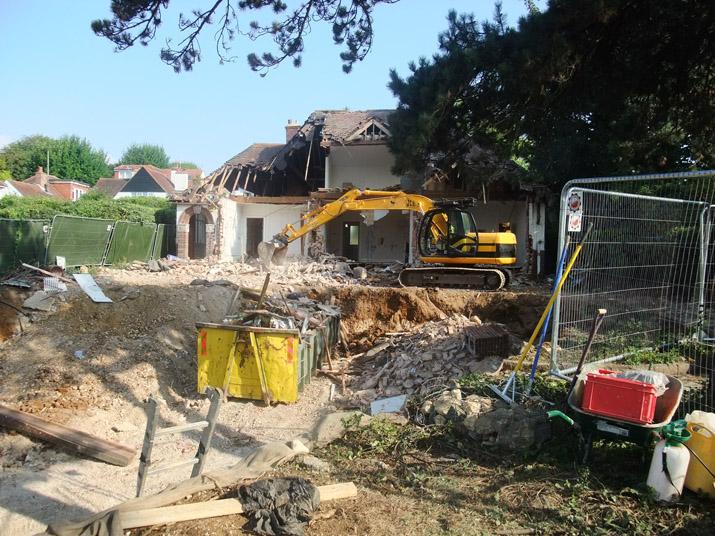 Hove 'Passivhaus' demolition