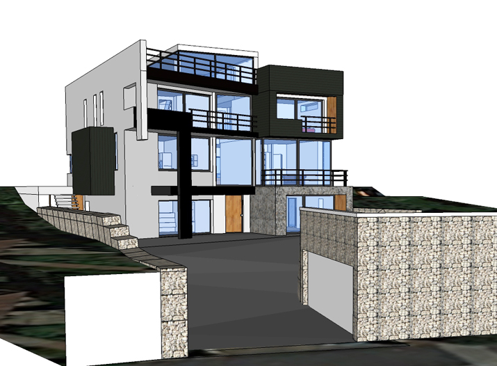 Hove 'Passivhaus' SketchUP images